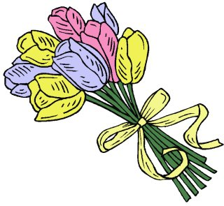 Free tulips-w-ribbon Clipart - Free Clipart Graphics ...