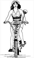 bicycle-woman