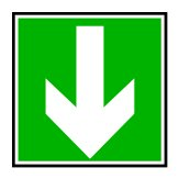 direction-down-green
