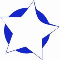 5-point-star-w-blue-background