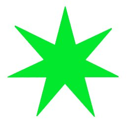 7-pointed-star-green