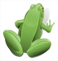 green-sitting-frog